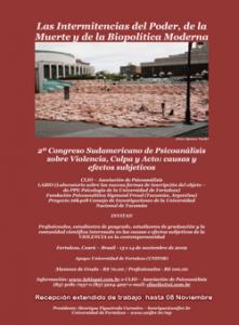 II Congresso Sul-americano de Psicanálise sobre Violência Culpa e Ato