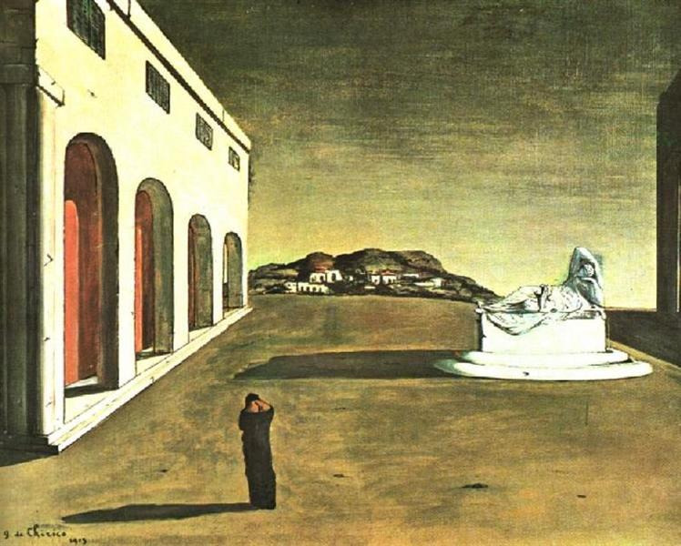 "Giorgio de Chirico, ""Melancholy of a Beautiful Day"" (1913)"
